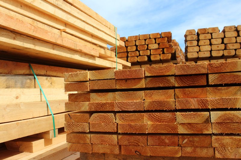 Stacked Wood Planks